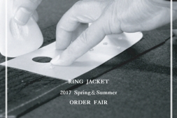 A Notification of 2017SS RING JACKET BUNCH ORDER FAIR